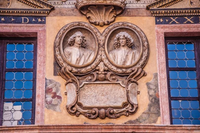 Close-up of the facade of Palazzo della Ragione at Piazza dei Signori - Verona, Veneto, Italy - rossiwrites.com