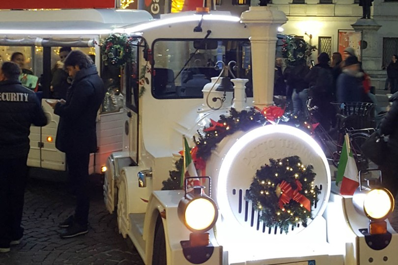 The Christmas train - Padua, Veneto, Italy - rossiwrites.com