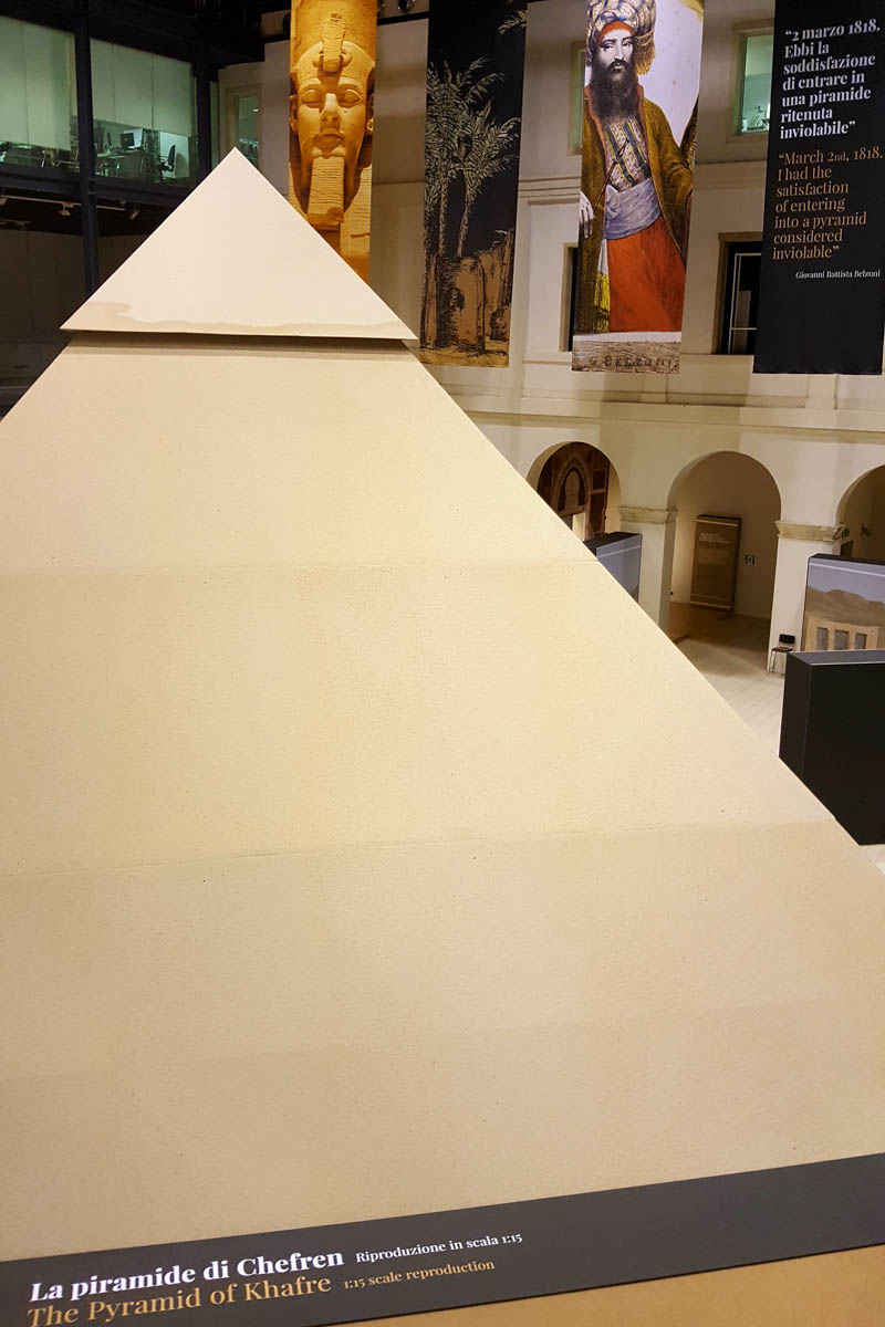 The pyramid in the Belzoni's Egypt Exhibition - Padua, Veneto, Italy - rossiwrites.com