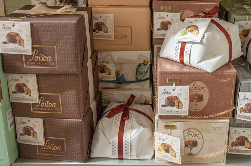 A selection of panettones - Loison, Costabissara, Veneto, Italy - rossiwrites.com