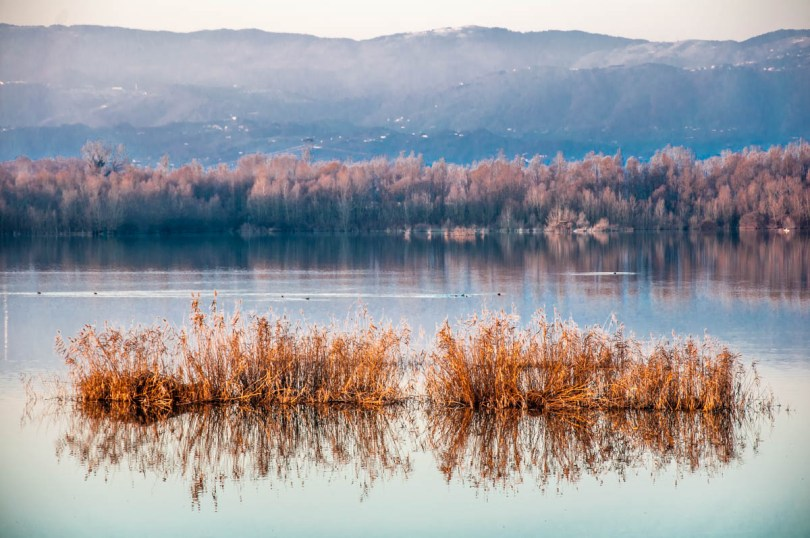 View of Lake Camazzole - Province of Padua, Veneto, Italy - rossiwrites.com