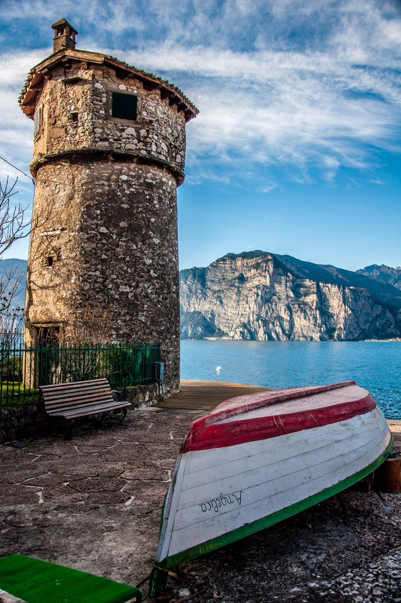 The ancient windmill - Cassone, Lake Garda, Veneto, Italy - rossiwrites.com