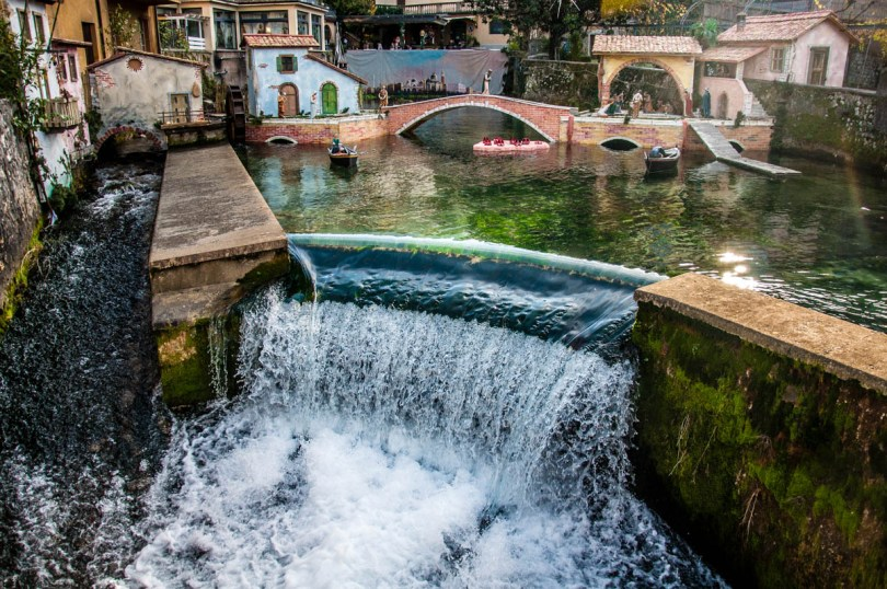 The weir of the river Aril - Cassone, Lake Garda, Veneto, Italy - rossiwrites.com