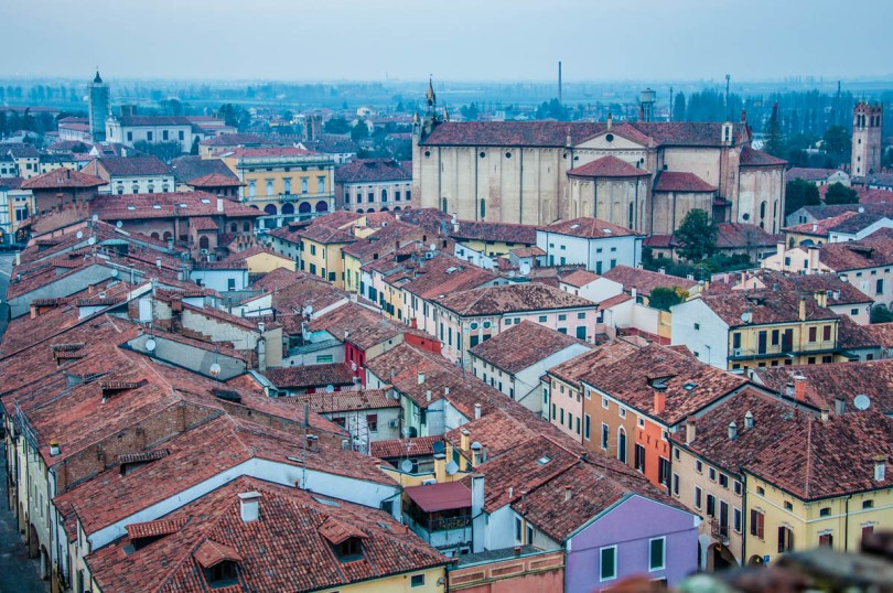 Montagnana seen from the top of the Ezzelino Tower - Montagnana, Veneto, Italy - rossiwrites.com