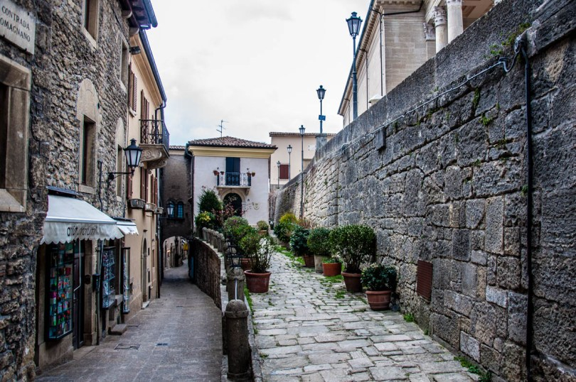 A view of the historic centre of the City of San Marino - San Marino - rossiwrites.com