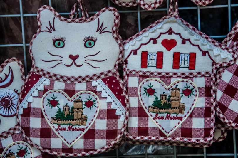 Souvenirs sold in tourist shops - San Marino - rossiwrites.com