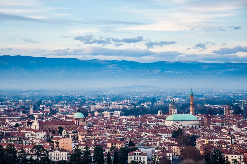 A view of Vicenza from Monte Berico - Vicenza, Italy - rossiwrites.com