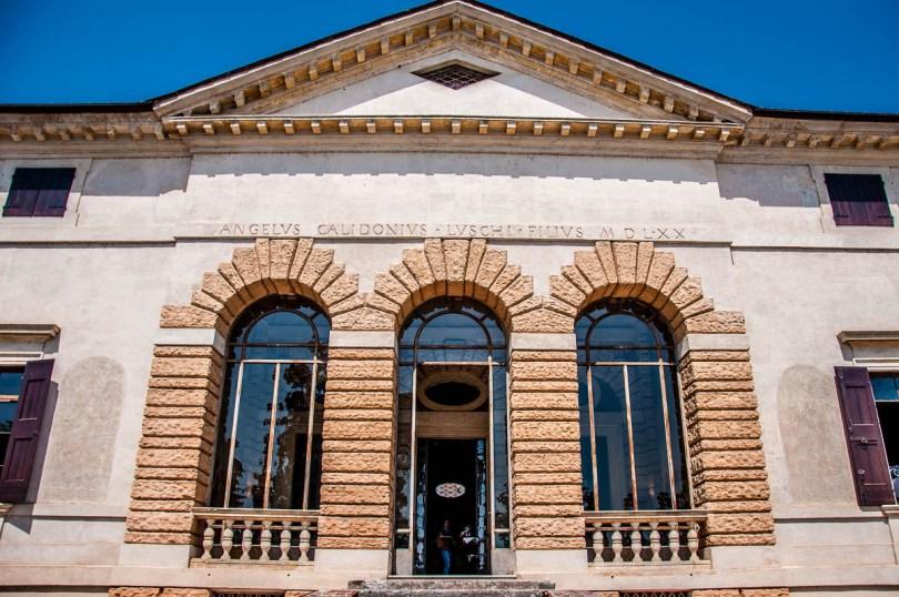 The facade - Palladio's Villa Caldogno - Caldogno, Vicenza, Italy - rossiwrites.com