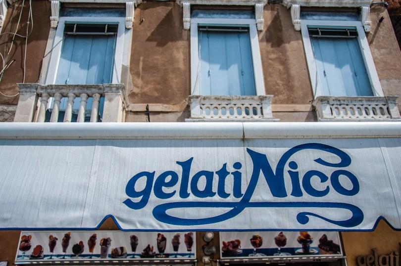 Gelati Nico at the Fondamenta delle Zattere - Venice, Italy - rossiwrites.com