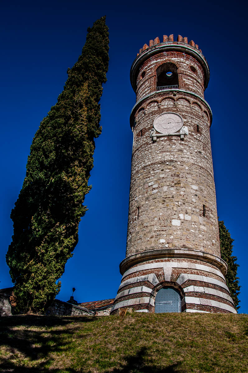 The tower with a cypress - Dante's Hill - Col Bastia - Romano d'Ezzelino, Veneto, Italy - rossiwrites.com
