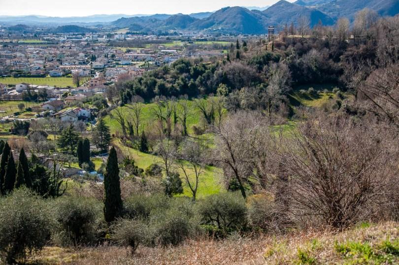 View of Monte Grappa from Dante's Hill - Col Bastia - Romano d'Ezzelino, Veneto, Italy - rossiwrites.com