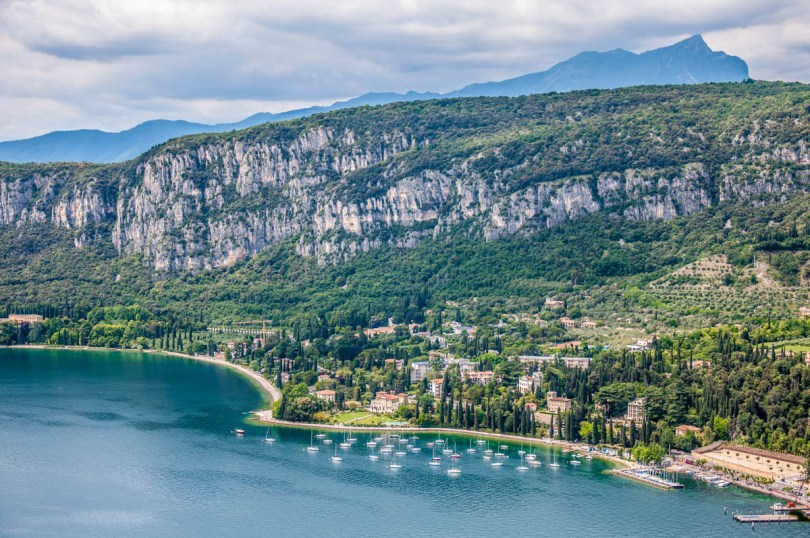 A view of Lake Garda with the marina of Garda Town - Rocca di Garda, Lake Garda, Italy - rossiwrites.com