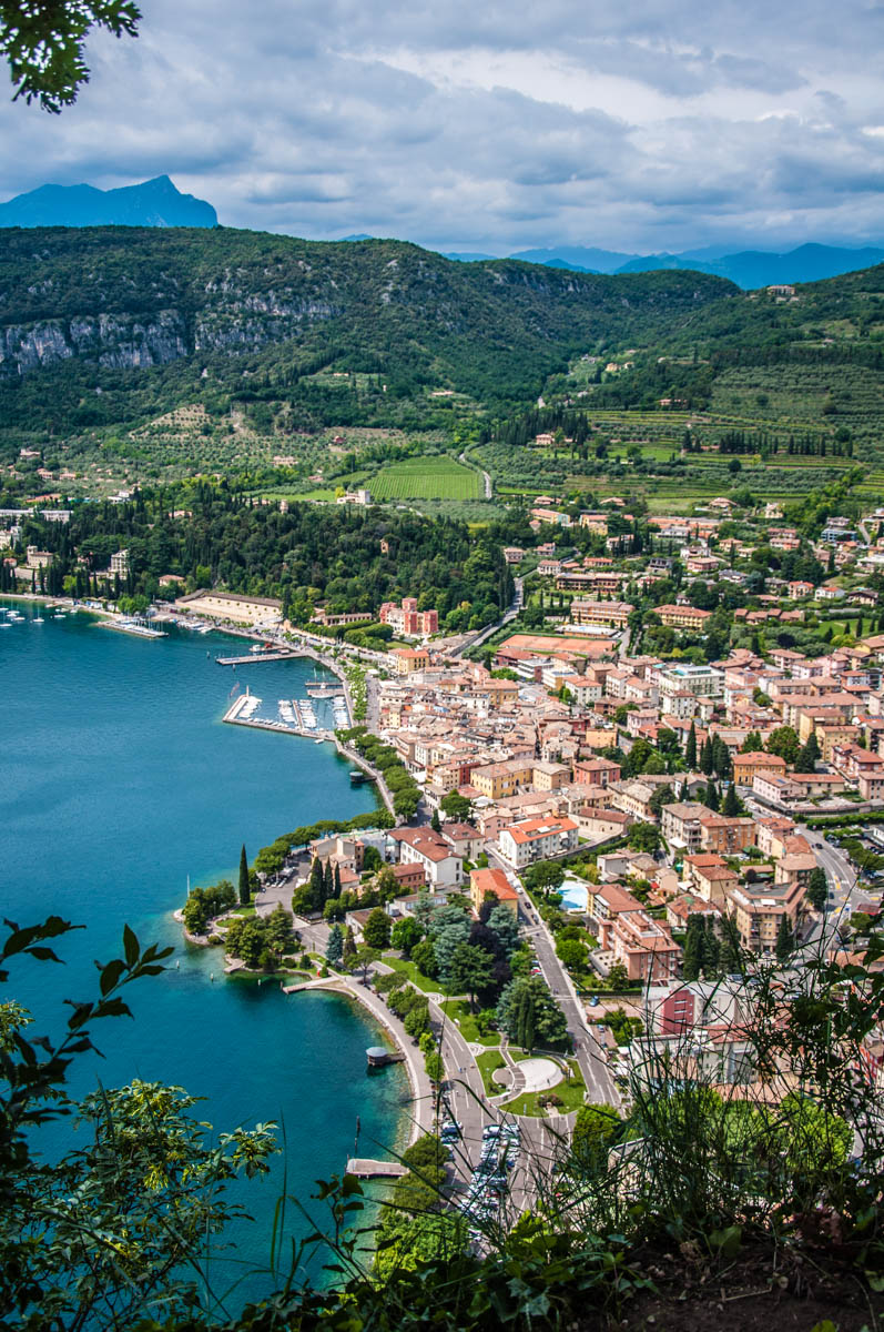 Garda Town seen from above - Rocca di Garda, Lake Garda, Italy - rossiwrites.com
