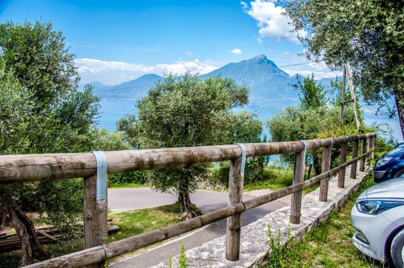 Lower parking lot - Crero, Lake Garda, Veneto, Italy - rossiwrites.com