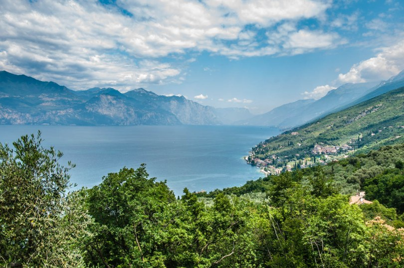 The view from the start of the hike to the Tibetan Bridge - Crero, Lake Garda, Veneto, Italy - rossiwrites.com
