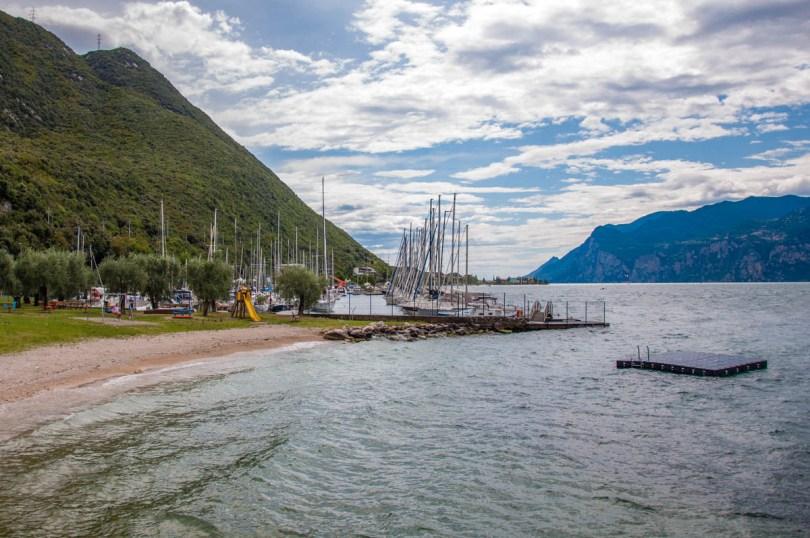 The beach and the marina - Navene, Lake Garda, Veneto, Italy - rossiwrites.com