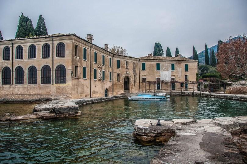 Locanda di San Vigilio with the small harbour - Punta di San Vigilio - Lake Garda, Italy - rossiwrites.com
