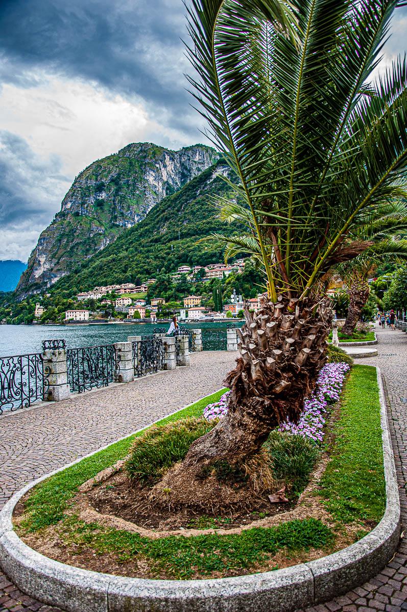 View of the esplanade of Menaggio - Lake Como, Italy - rossiwrites.com