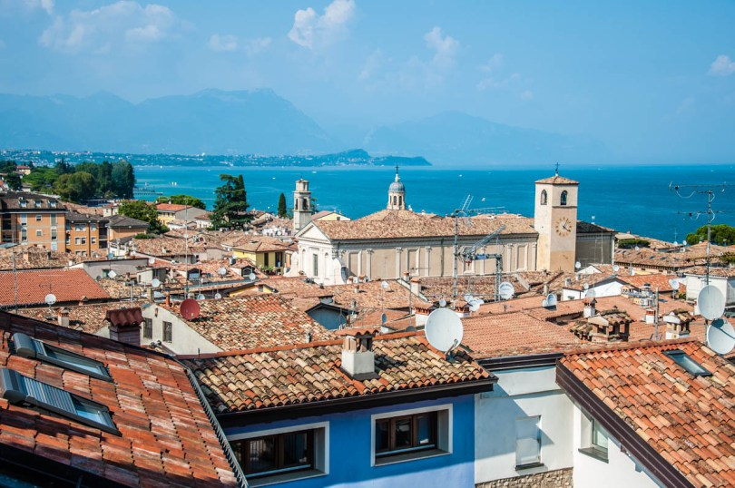 The Duomo and Lake Garda seen from the medieval castle - Desenzano del Garda, Lombardy, Italy - rossiwrites.com