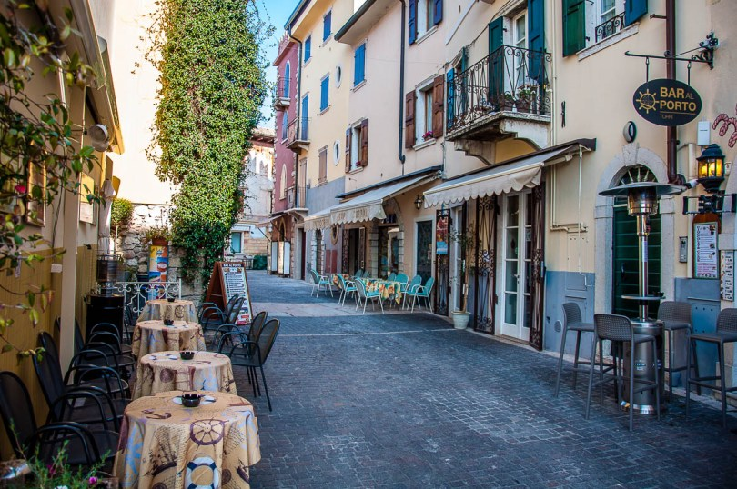 Street in the historic centre - Torri del Benaco, Italy - rossiwrites.com
