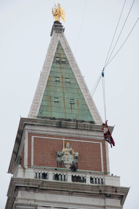Flight of the Angel - Venice Carnival 2011 - Venice, Italy - rossiwrites.com