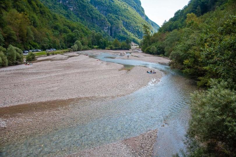 Panoramic view of the River Mis - Cadini del Brenton - Dolomites, Italy - rossiwrites.com