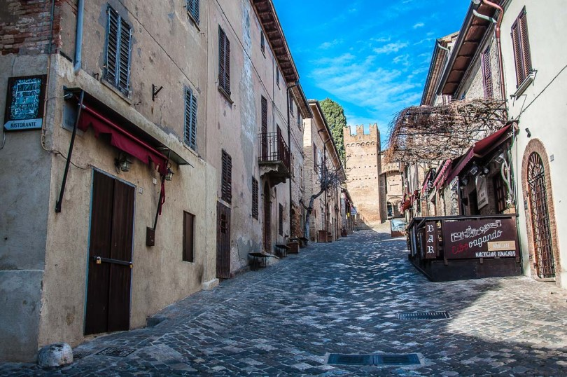 The main street of the fortified village - Gradara, Italy - rossiwrites.com