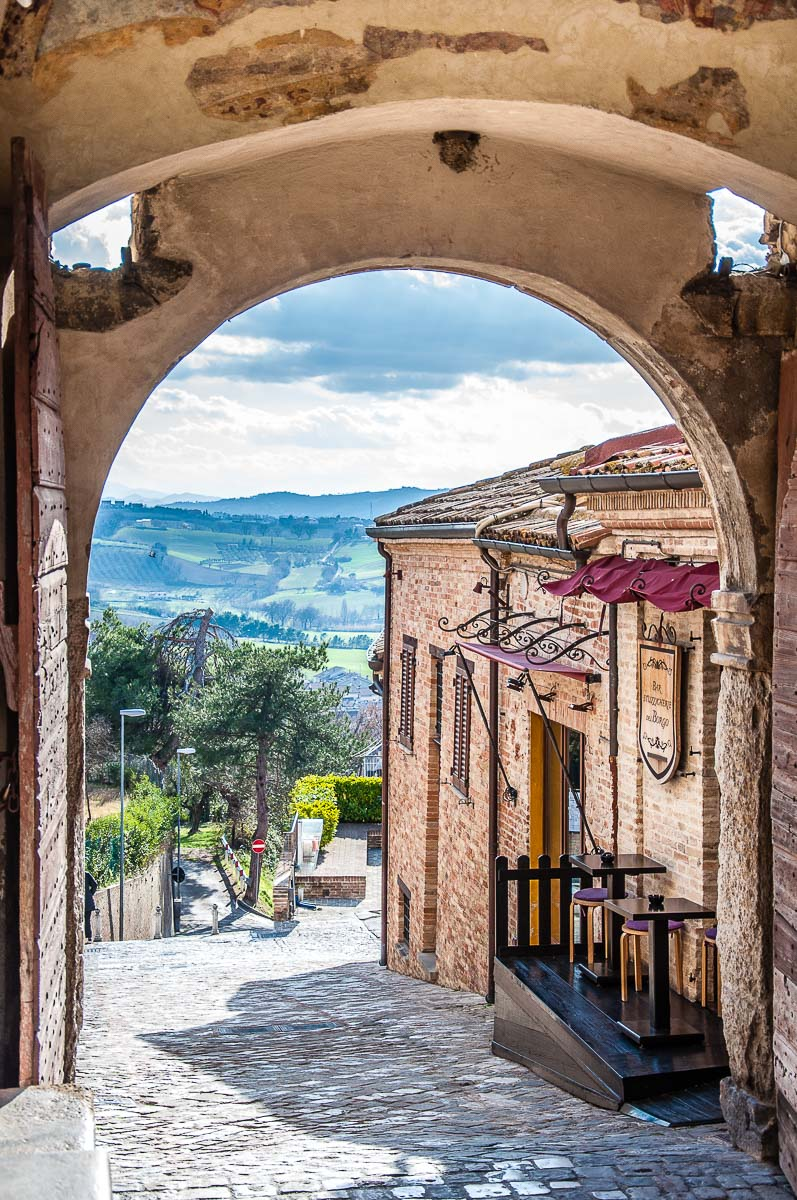 The view from the main enrance gate of the fortified village - Gradara, Italy - rossiwrites.com