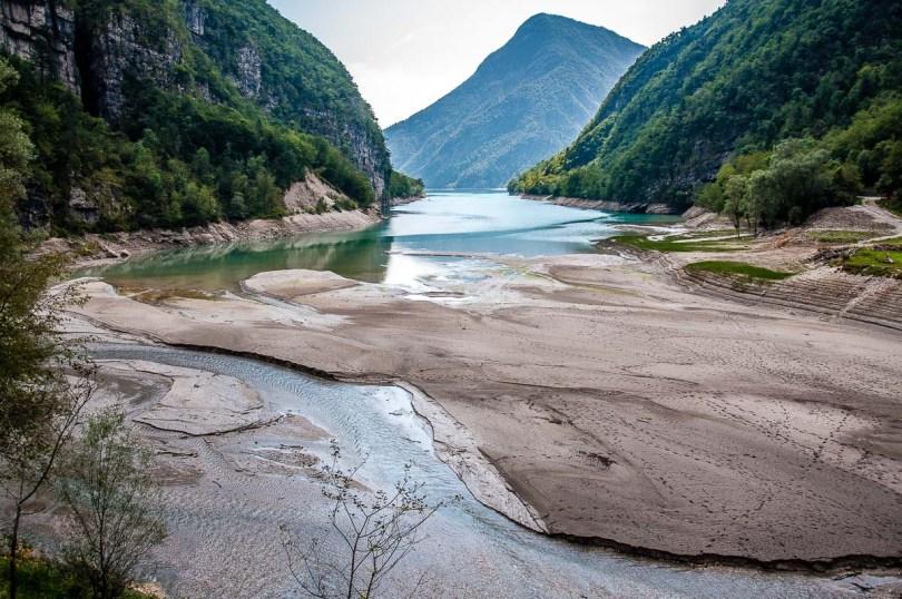 View of Lake Mis near Cascate della Soffia - Dolomites, Italy - rossiwrites.com