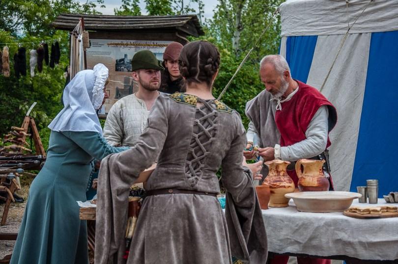 People in medieval clothes taking part in the La Faida Romeo and Juliet festival - Montecchio Maggiore, Italy - rosssiwrites.com