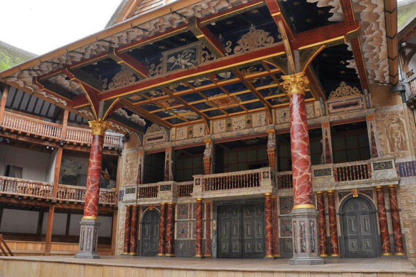The stage of Shakespeare's Globe - London, England - rossiwrites.com
