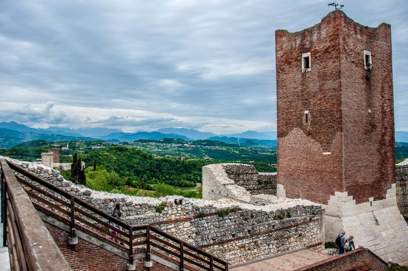 The view from the top of Juliet's Castle - Montecchio Maggiore, Italy - rossiwrites.com