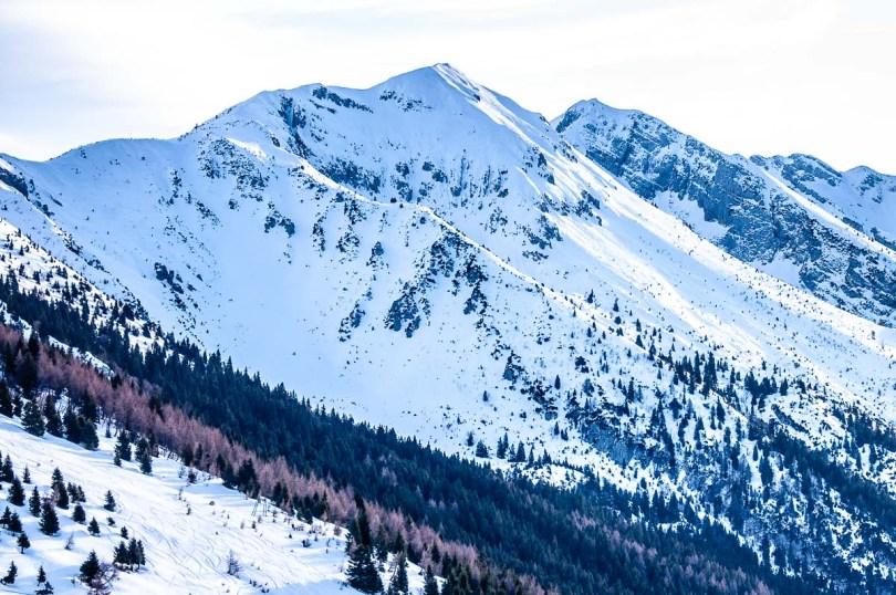 Monte Baldo covered in snow in winter - Malcesine, Italy - rossiwrites.com