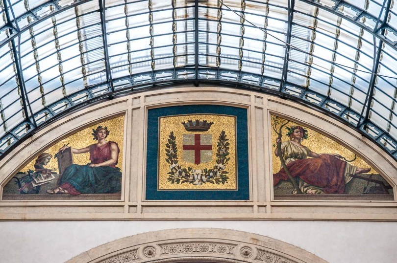 Precious mosaics inside one of the world's oldest shopping centres - Galleria Vittorio Emanuele II - Milan, Italy - rossiwrites.com