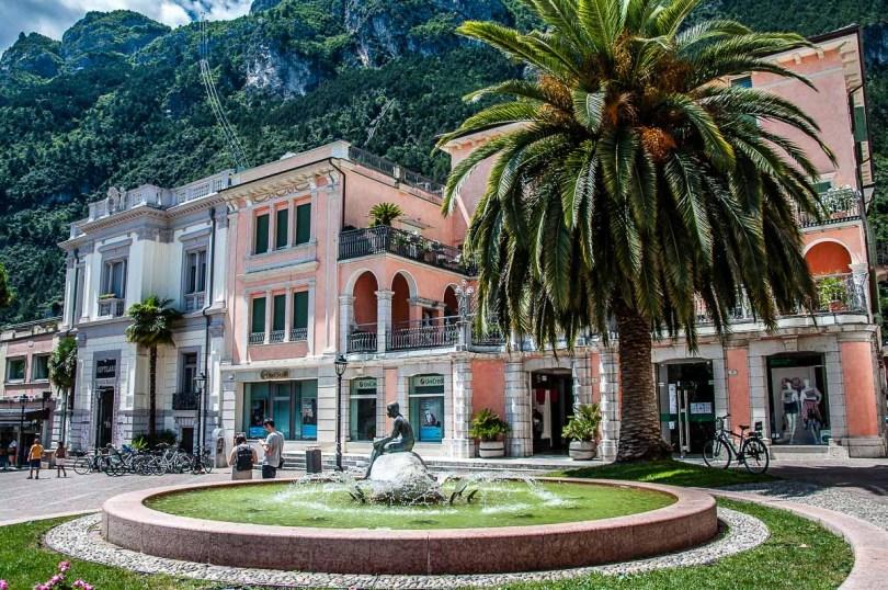 Fountain in the historic centre - Riva del Garda, Italy - rossiwrites.com
