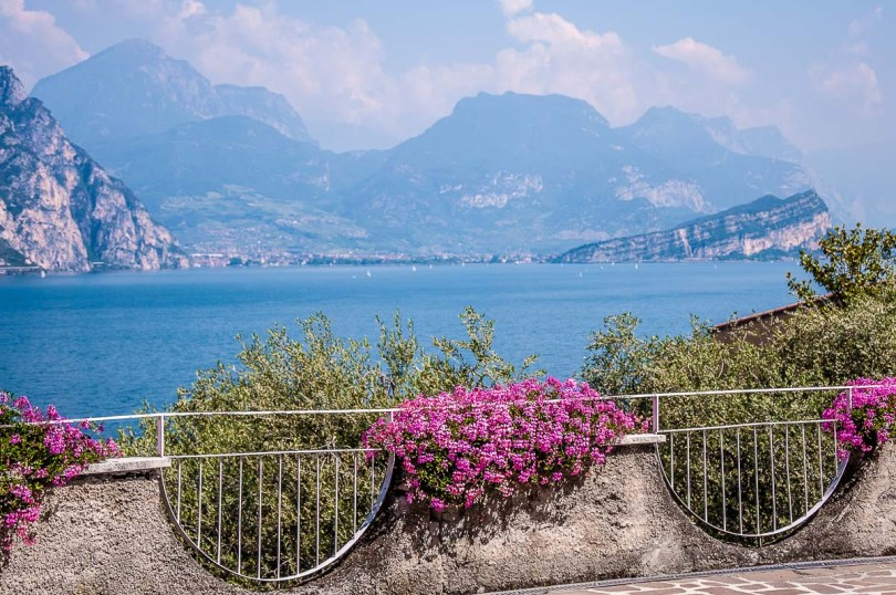 Panoramic view of Riva del Garda and Mount Brione - Trentino, Italy - rossiwrites.com
