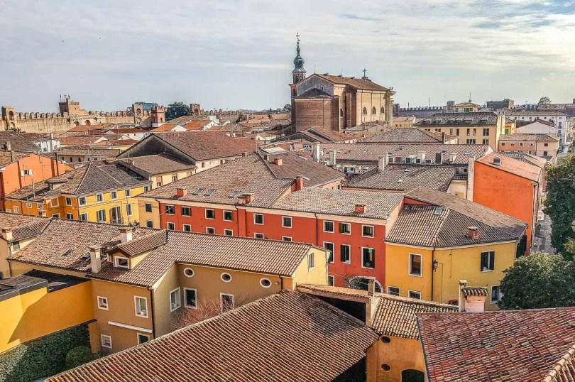 The historic centre seen from Porta Bassano - Cittadella, Italy - rossiwrites.com