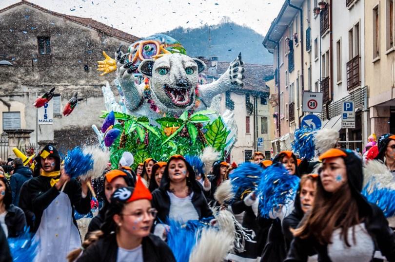 Carnival parade in Malo - Veneto, Italy - rossiwrites.com