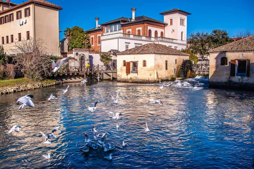 The 12th-century mills in the town of Portogruaro - Veneto, Italy - rossiwrites.com