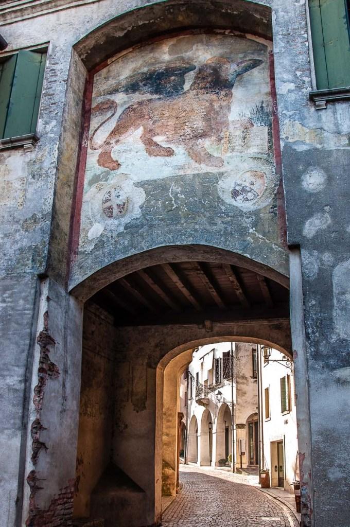 The medieval Porta del Leone - Conegliano, Italy - rossiwrites.com