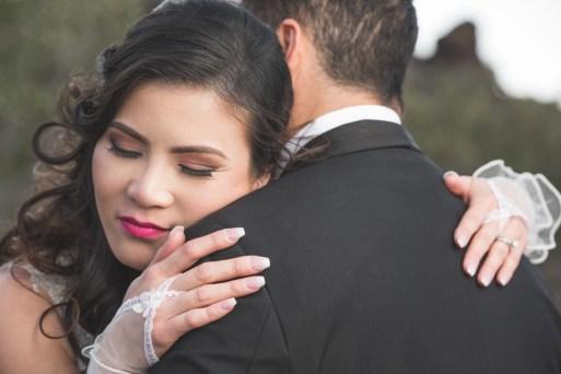 husband and wife wedding portrait