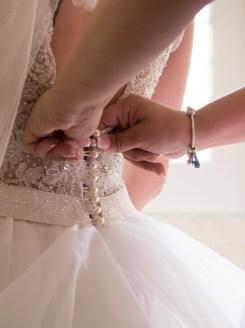 button up brides dress