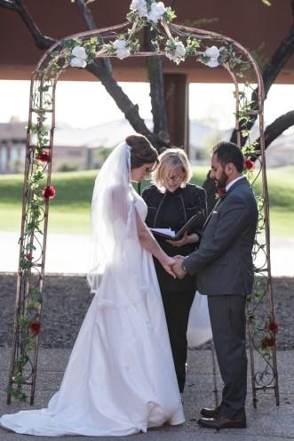 bride and groom praying ceremony