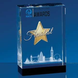 Subsurface laser crystal awards