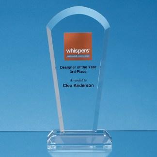 Optical crystal flat mounted awards