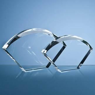 25.5cm Optical Crystal Bevelled Arch Award