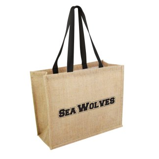 Green & Good Taunton Jute Bag with Black handles