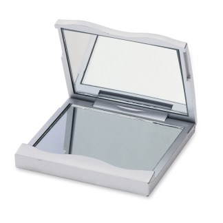 Make-up mirror with regular and magnifying mirrors