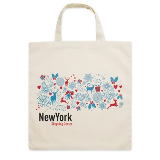 Shopping bag with short handles
