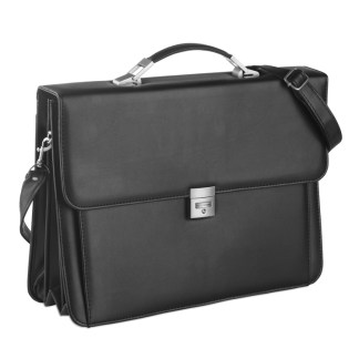 Imitation leather document bag with 3 compartments